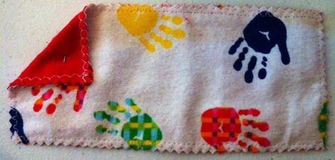 Hand Print Washable Baby Wipes 3.25 X 7.25 Fits in wipe box