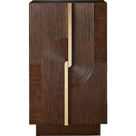 Detour Brown Wine Cabinet Cb2 Wine Cabinets Bedroom Cupboard Designs Door Design