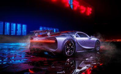 Bugatti Chiron Neon Lights Luxury Car Bugatti Chiron Bugatti Super Cars