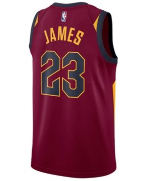 brand new 46d74 711fd Nike Men's LeBron James Cleveland Cavaliers Icon Swingman ...