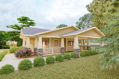 Plan 18300be Delightful 2 Bed Space Saving Bungalow House Plan Bungalow House Plans Dream House Exterior House Plans