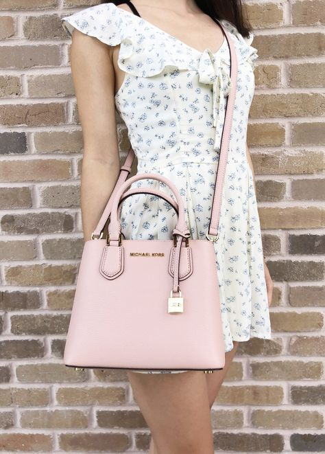 cc5a8241dce0 Michael Kors Adele Mercer Medium Messenger Bag Pastel Pink #MK #Handbags # MichaelKors