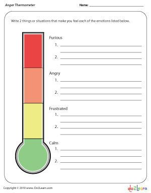 Anger and Anxiety Thermometers