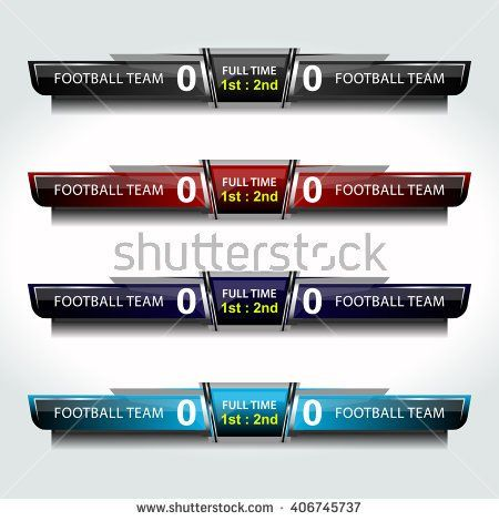 scoreboard icons sport for football and soccer, vector - scoreboard template