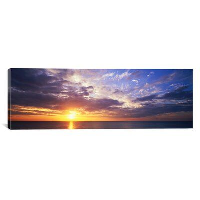 Ebern Designs Panoramic Sunset Caribbean Island Grand Cayman Island Photographic Print On Wrapped Canv Grand Cayman Island Panoramic Images Caribbean Islands