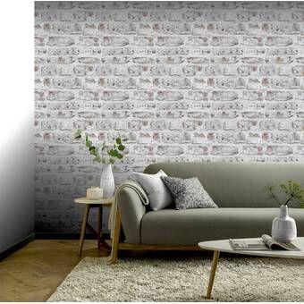 Brimmer 32 7 X 20 5 Brick Wallpaper Brick Wallpaper Brick Wallpaper Roll Vinyl Wall Panels