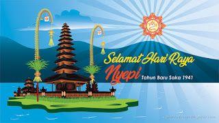 indonesian hindu holiday greeting selamat hari raya nyepi tahun baru saka 1941 means happy day of silence saka new year 1941 illustration clip art gambar indonesian hindu holiday greeting