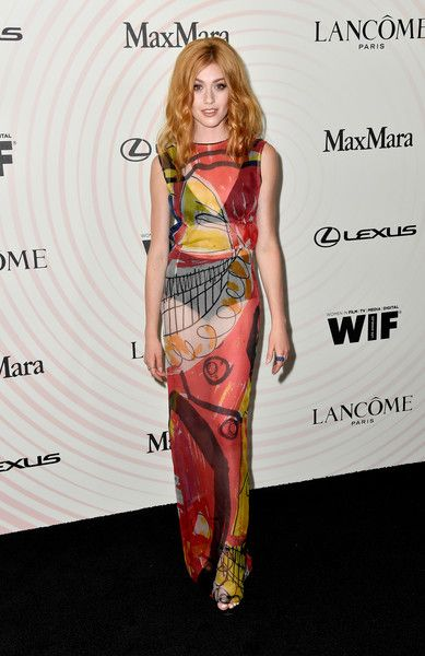 Katherine McNamara attends the Women In Film 2018 Crystal + Lucy Awards presented by Max Mara, Lancôme and Lexus at The Beverly Hilton Hotel.