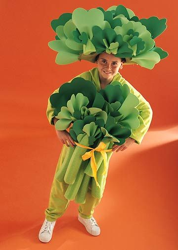 Veggie Power - celery or broccoli costume. This would have come in handy for the musical last year.