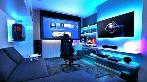 Game Room Ideas For Small Rooms - Best Video Game Room Ideas: Cool Gaming Setup Designs, Gamer Room Decor, and Apartment Decorating Ideas - Bedroom, Living Room, Small Room Best Gaming Setup, Gaming Room Setup, Pc Setup, Gamer Setup, Cool Gaming Setups, Gaming Chair, Fun Video Games, Video Game Rooms, Pc Games