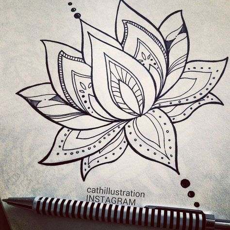 Pin By Michele Tinoco On Cute Tats Lotus Mandala Tattoo Simple Lotus Flower Tattoo Lotus Flower Drawing