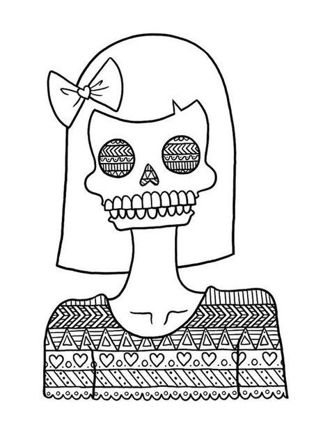 pin barbara op coloring skull