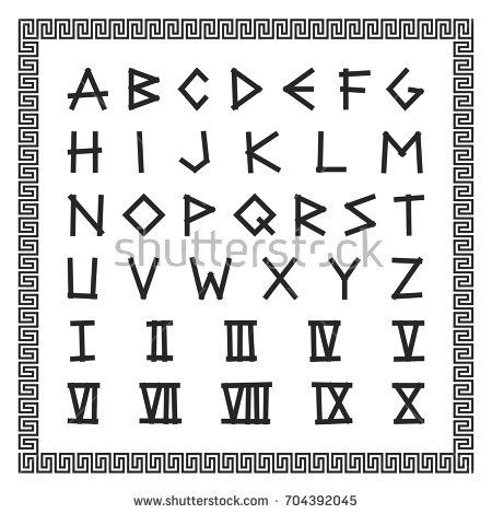 Image Result For Ancient Rome Letter Writing Greek Font Cool Fonts Alphabet Alphabet
