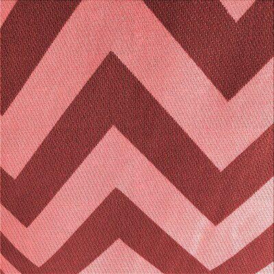East Urban Home Nuala Chevron Wool Red
