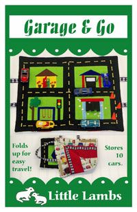 The Garage & Go Playmat Pattern by Little Lambs at KayeWood.com has been kid tested and it passed with flying colors! This pattern features a playmat with a road that includes some construction cones and 4 fun scenes. http://www.kayewood.com/item/Garage_and_Go_Kids_Play_Mat_Pattern/3024 $8.50
