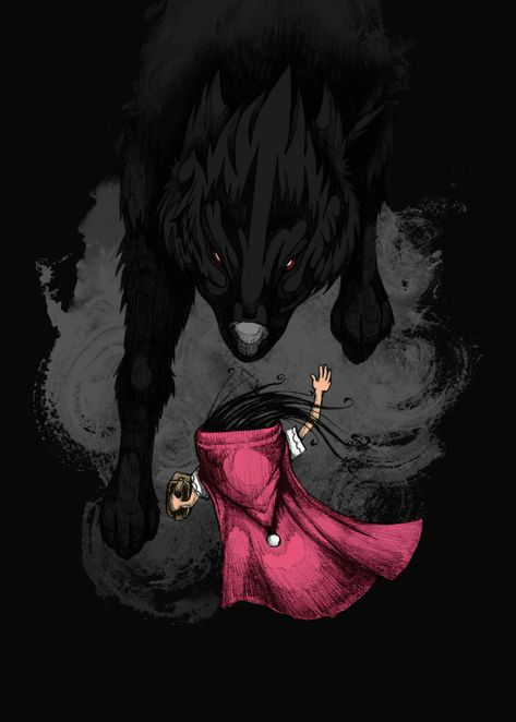 Big Bad Wolf by Steven Toang /little red riding hood - cappuccetto rosso