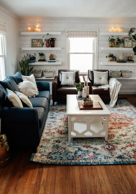 Family Room In A Small Cape Gets A Major Makeover Nesting With Grace In 2020 Living Room Makeover Family Living Room Design Family Living Rooms