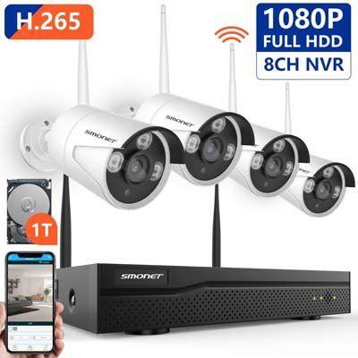 Top 10 Best Outdoor Wireless Security Camera System With Dvr In Reviews Wireless Security Camera System Security Camera System Home Security Systems