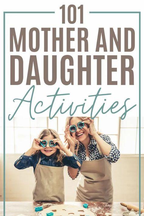 Mom Daughter Dates, Mother Daughter Crafts, Mother Daughter Activities, Daughters Day, Mother And Child, To My Daughter, Indoor Games, Indoor Activities, Summer Activities