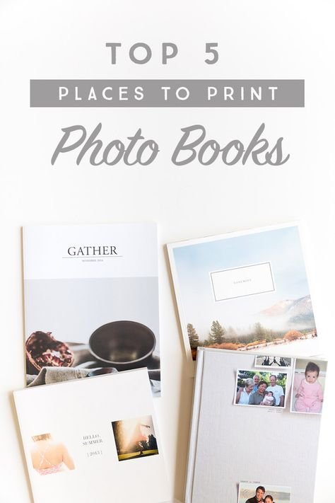 Top 5 Places to Print Photo Books
