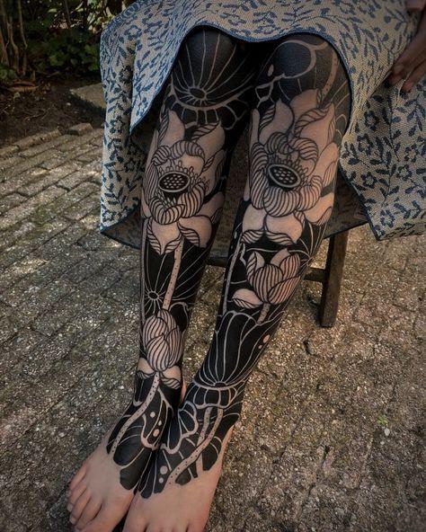 Hair Tattoos, Life Tattoos, Body Art Tattoos, Tatoos, Female Leg Tattoos, Leg Sleeve Tattoos, Pretty Tattoos, Beautiful Tattoos, Gakkin Tattoo