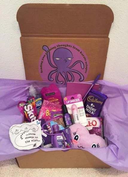 61 Super Ideas Birthday Box Ideas For Best Friend Purple Birthday Care Packages Bff Birthday Gift Bff Birthday