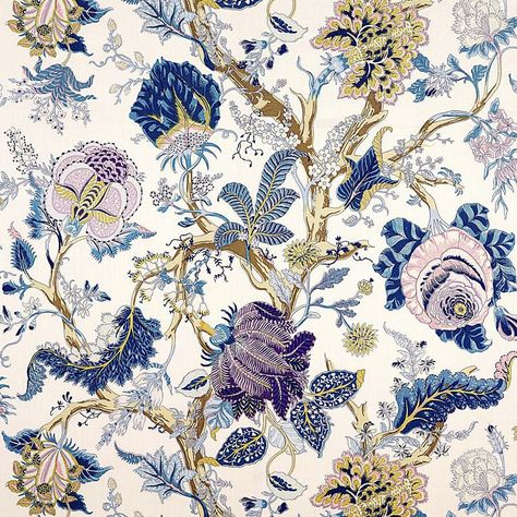 My Fabric Connection - Schumacher Fabric Indian Arbre Hyacinth 175781, $132.00 (http://www.myfabricconnection.com/schumacher-fabric-indian-arbre-hyacinth-175781/)
