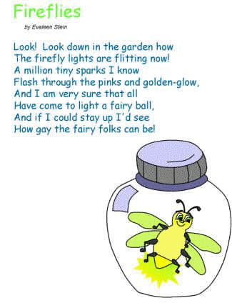 The Very Lonely Firefly Crafts Poem Poster Coloring Page