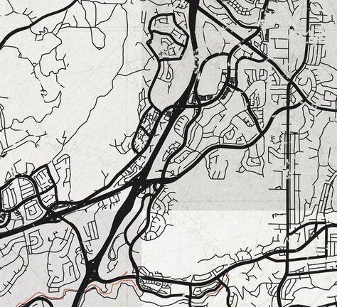 Poway California Map.Poway Ca Canvas Print California Vintage Map Ca City Town Plan Black
