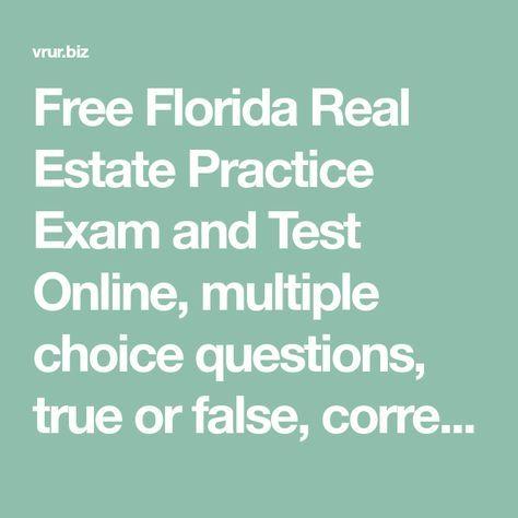 Florida Real Estate Practice Exam Online Free Florida Real