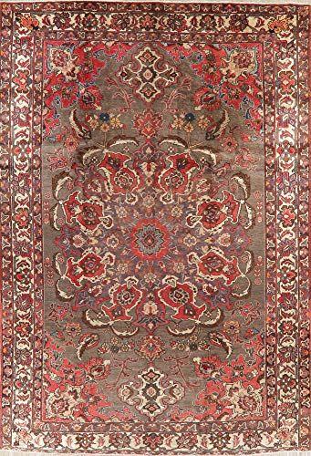 Brown Lori Vintage Area Rug Handmade Wool Oriental Dining Room Carpet 8x12 8 5 X 12 3 Vintage Area Rugs Handmade Area Rugs Handmade Rugs 8 x 12 area rug