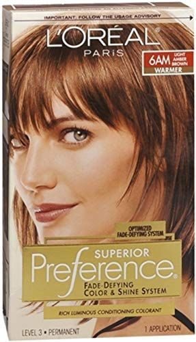 New L Oreal Superior Preference 6am Light Amber Brown Warmer 1 Each Pack 5 Online Shopping In 2020 Light Hair Color Amber Hair Colors Loreal