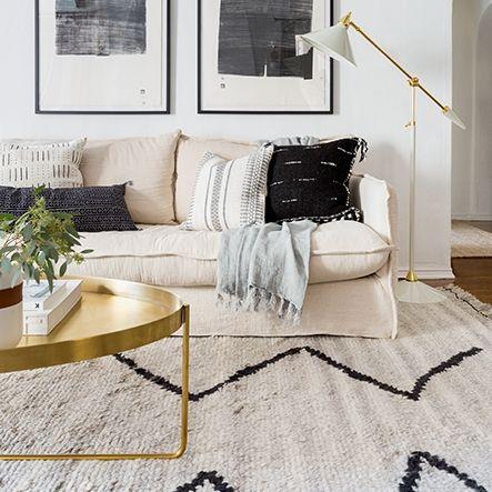 Aya Moroccan Shag Rug Gold Living Room Beige Couch Living Room Beige Living Rooms