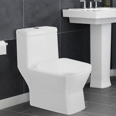 Aqualife Corp Potomac 1 28 Gpf Elongated One Piece Toilet Seat
