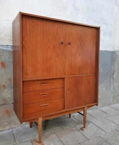 Vintage Jaren 60 Kast Danish Design Retro Highboard