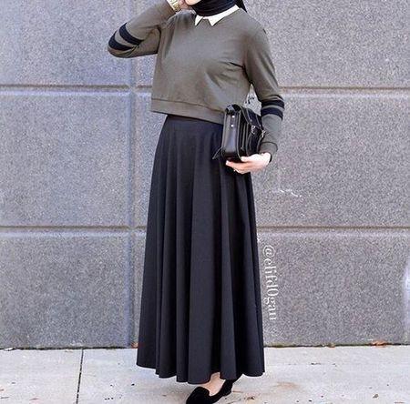 Perpaduan Warna Baju Dan Jilbab