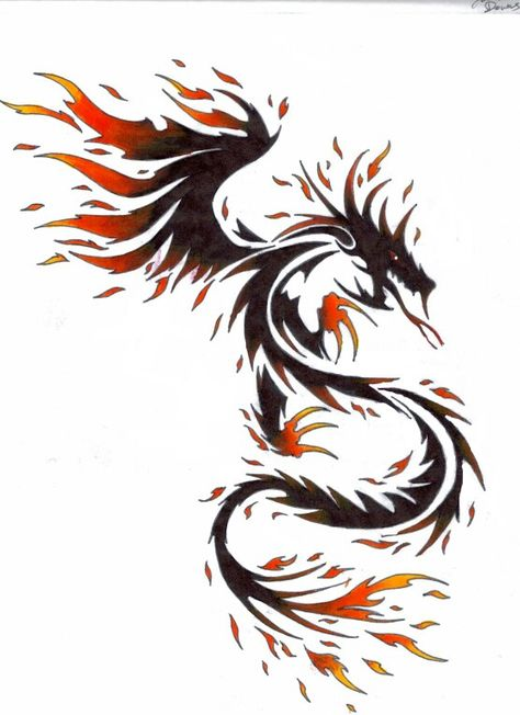 Red Dragon Tattoo En 2019 Tatouage Dragon Rouge Tatouages De