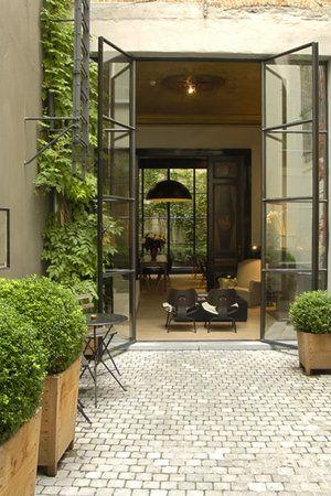 live breathe decor iron doors internal courtyard