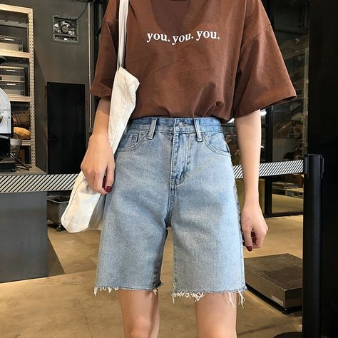 17.86US $ 50% OFF|Half Long Summer High Waist Denim Shorts For Women Sexy Wide Leg Short Jeans Korean Style Harajuku Fashion Lace Up Shorts Femme|Shorts|   - AliExpress