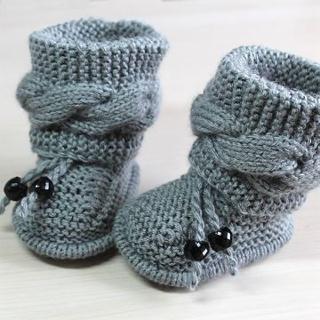 4 Sencillas Botitas De Bebe A Dos Agujas A Color Zapatitos De Bebé De Punto Baby Knitting Patterns Botines De Punto