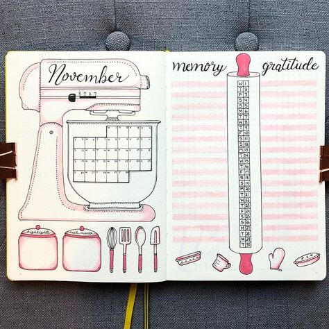 17 Lovely Ideas For Your Bullet Journal Monthly Spread To Organize Your Life