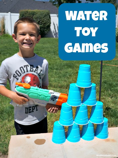 Beat the Heat with Water Gun Games - Outdoor Fun For Kids of.-Beat the Heat with Water Gun Games – Outdoor Fun For Kids of All Ages Beat the Heat with Water Gun Games – Lots of fun ideas for outdoor play at Mom Always Finds Out - Outdoor Fun For Kids, Outdoor Activities For Kids, Outdoor Water Games, Outdoor Summer Games, Outdoor Play Ideas, Indoor Games, Backyard Water Games, Outdoor Camping, Outdoor Spa