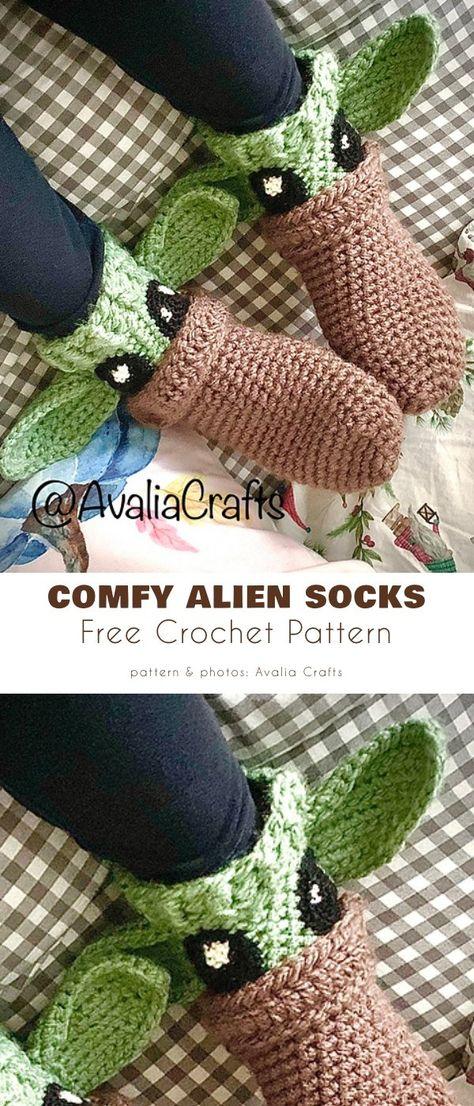 Crochet Gratis, Crochet Slippers, Cute Crochet, Crochet Yarn, Star Wars Crochet, Crochet Accessories, Crochet Clothes, Crochet Projects, Crochet Patterns