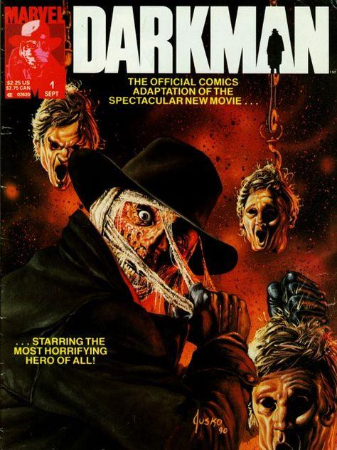 Darkman #1, September 1990, cover by Joe Jusko