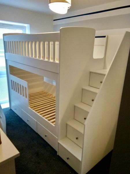 Bunk Beds Come With Drawer Stairs And Drawers Underneath For Added Storage Shipping And Fitting Costs Dormitorios Cama De Dos Pisos Diseno De Cama Para Ninos