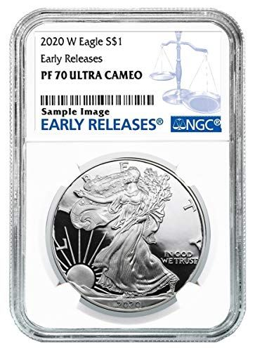 2020 W Silver Eagle Early Release Blue Label 1oz Silver Coin Dollar Pf70 Ngc In 2020 Silver Eagles American Silver Eagle Eagle