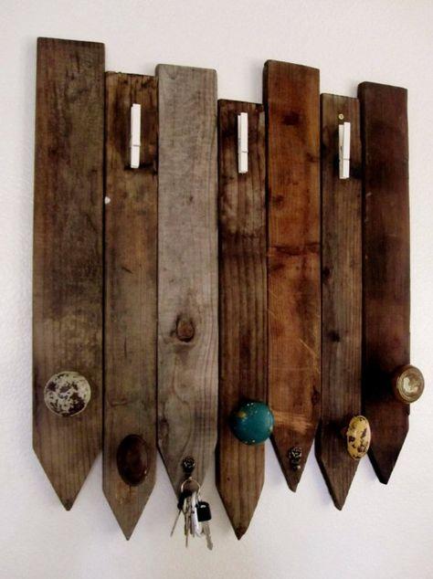 porta-chaves ou trecos com pallets