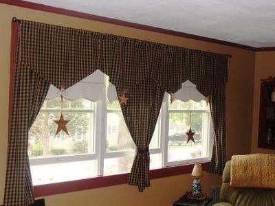 I love the way these curtains are done Searching ideas for my - country curtains for living room