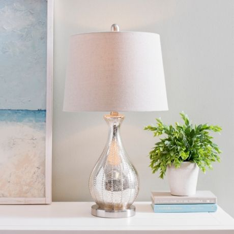 Alyson Beaded Mercury Glass Table Lamp Mercury Glass Table Lamp Glass Table Lamp Glass Table