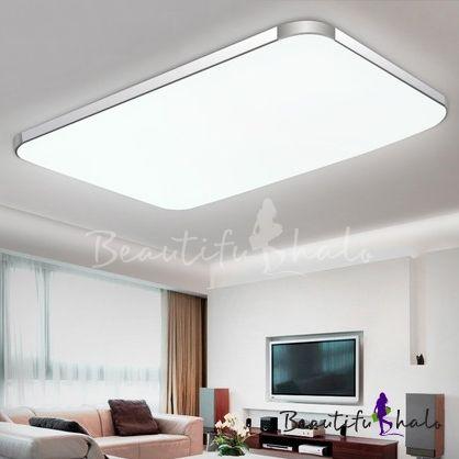 Aluminum Rectangle Flush Mount Light Contemporary Led Ceiling